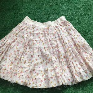 Free people Sz s layered twirl skirt prairie